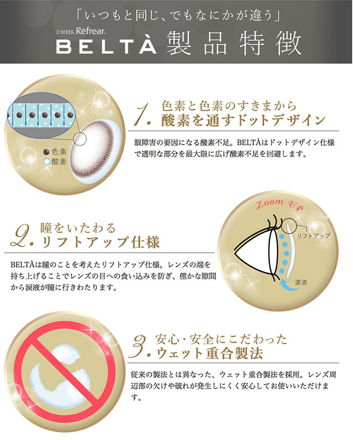 2wek BELTA 製品特徴