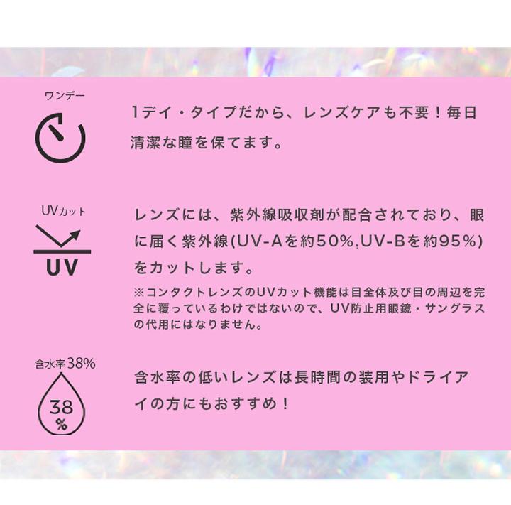ワンデー UVカット 含水率38%