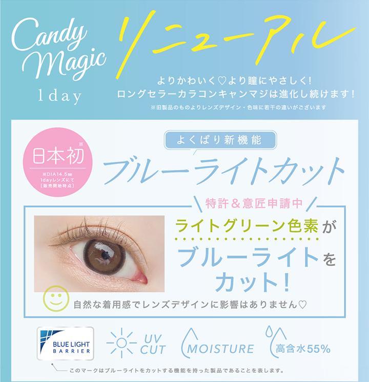 キャンディーマジックワンデー  candy magic 1ay ブルーライトカット
