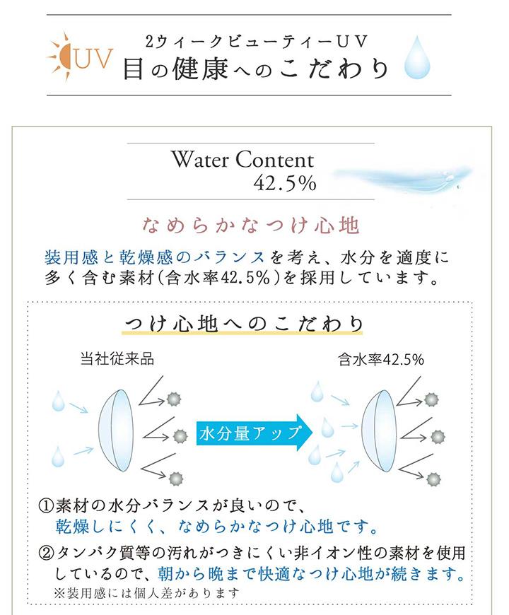 2ウィークビューティーUV 含水率 42.5%