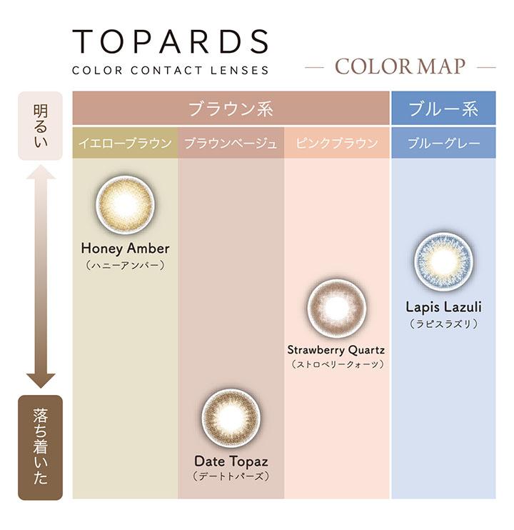 指原莉乃プロデュースカラコン トパーズのカラーマップ