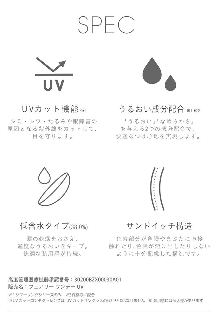 スペック UVカット うるおい成分配合 低含水タイプ サンドイッチ構造
