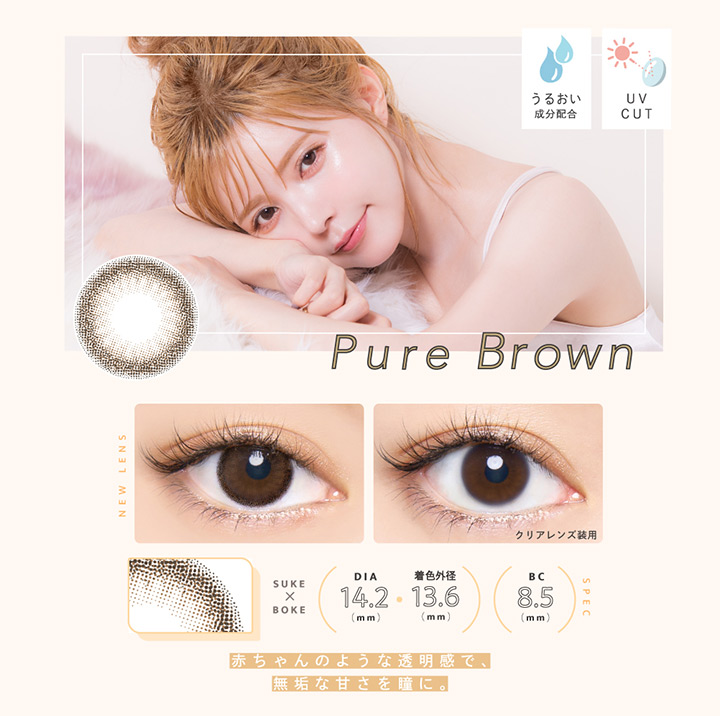 エンジェルカラーワンデー バンビシリーズ ナチュラル(Angel color 1Day Bambi Natural) ピュアブラウン Pure Brown